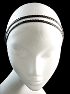 Elastic Double Black Braided