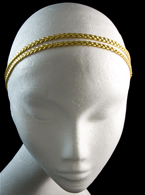 Elastic Double Braided Gold