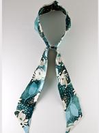 Emerald Flower Scarf Headband
